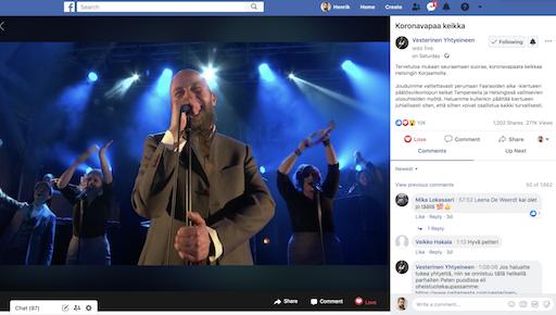 Vesterinen yhtyeineen – Livekonsertti